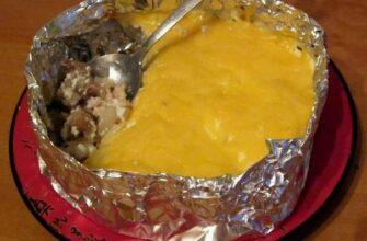 Диетический ужин - Жульен с курицей и грибами