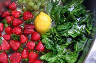 Устраните бактерии из ваших фруктов и овощей за счет добавления чайной ложки вот чего!